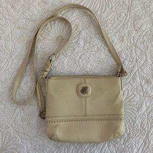 Brighton Ivory Leather Small Crossbody Bag